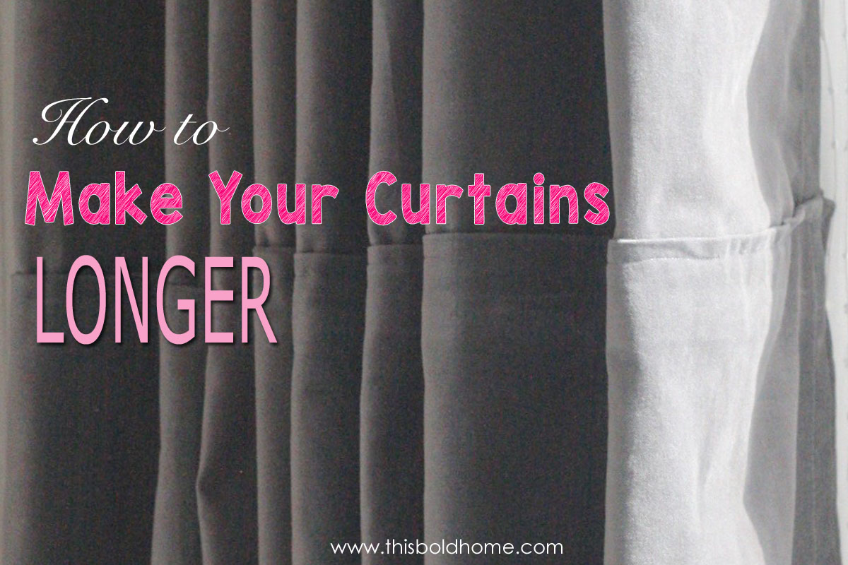 How To Make Curtains Longer This Bold Home