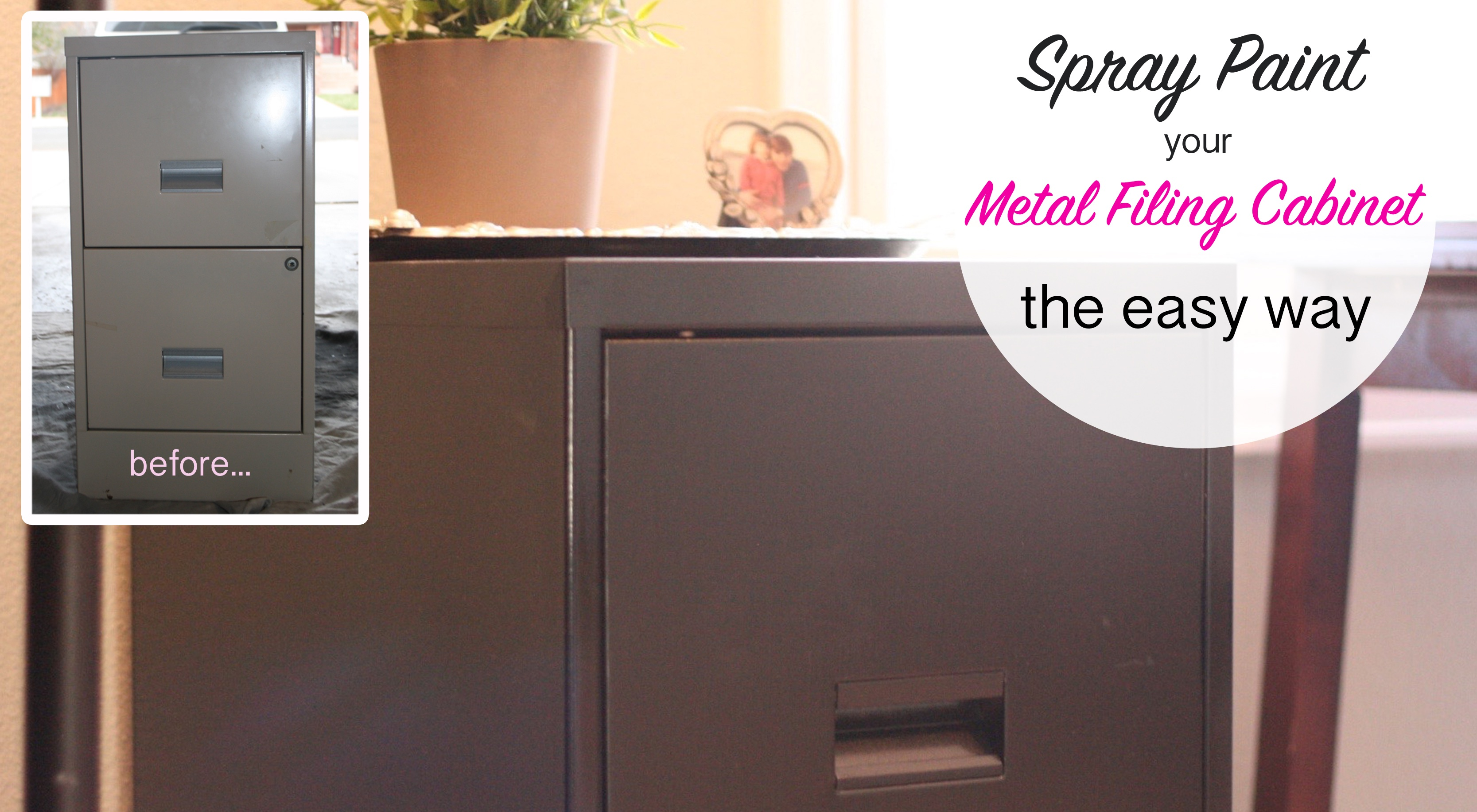 How to spray paint a metal filing cabinet this bold home